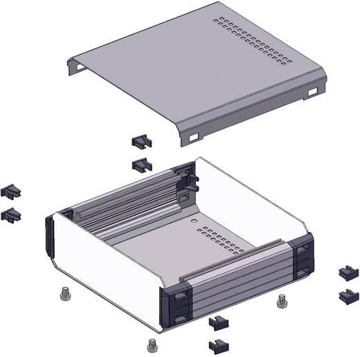 Tisch-Gehäuse 200 x 200 x 70 Aluminium Anthrazit Axxatronic CDIC00002-CON 1 St.