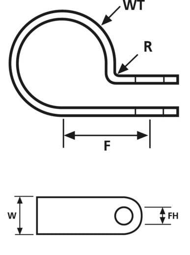 Befestigungsschelle schraubbar halogenfrei , hitzestabilisiert Natur HellermannTyton 211-60069 H6P 1 St.