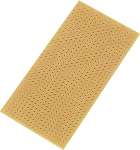 Europlatine ohne Cu-Auflage Hartpapier (L x B) 100 mm x 50 mm Rastermaß 2.54 mm Conrad Components SU528404 Inhalt 1 St.