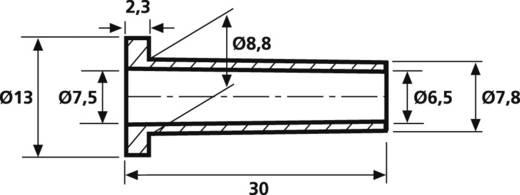 Knickschutztülle Klemm-Ø (max.) 7.5 mm PVC Schwarz HellermannTyton HV2210-PVC-BK-M1 1 St.