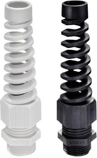 Kabelverschraubung mit Zugentlastung, mit Knickschutz PG16 Polyamid Licht-Grau Wiska SKVS PG 16 RAL 7035 1 St.
