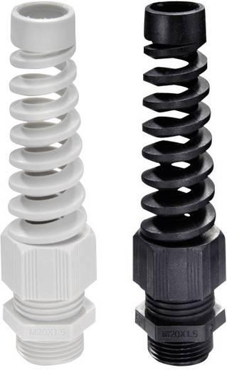 Kabelverschraubung mit Zugentlastung, mit Knickschutz PG7 Polyamid Schwarz Wiska SKVS PG 7 RAL 9005 1 St.