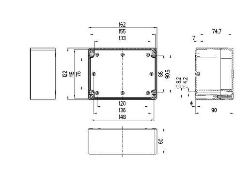 Installations-Gehäuse 162 x 122 x 90 Polycarbonat Licht-Grau (RAL 7035) Spelsberg TG PC 1612-9-to 1 St.