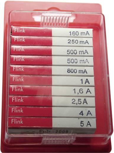Feinsicherung-Sortiment (Ø x L) 5 mm x 20 mm Flink -F- ESKA 120950 Inhalt 100 St.