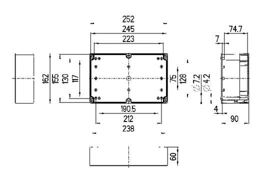 Installations-Gehäuse 252 x 162 x 90 Polycarbonat Licht-Grau (RAL 7035) Spelsberg TG PC 2516-9-o 1 St.