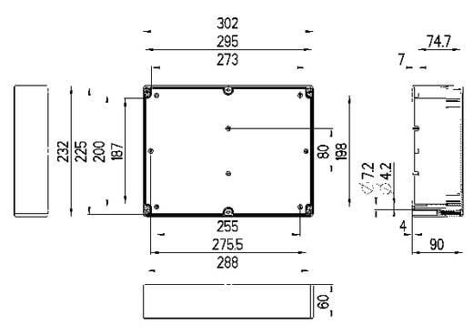 Installations-Gehäuse 302 x 232 x 90 ABS Licht-Grau (RAL 7035) Spelsberg TG ABS 3023-9-o 1 St.