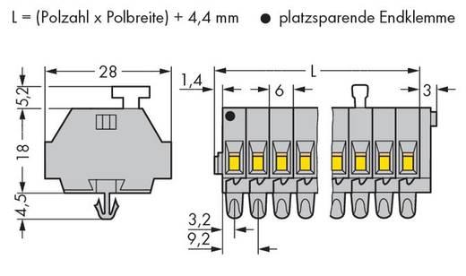Klemmenleiste 6 mm Zugfeder Belegung: L Grau WAGO 261-155/331-000 100 St.