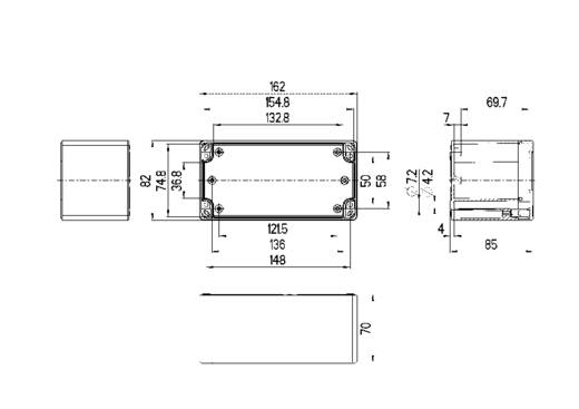 Installations-Gehäuse 162 x 82 x 85 Polycarbonat Licht-Grau (RAL 7035) Spelsberg TG PC 1608-9-to 1 St.
