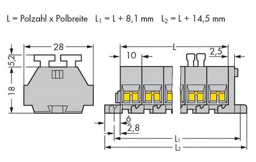 WAGO 261-205/342-000 Klemmenleiste 10 mm Zugfeder Belegung: L Grau 100 St.