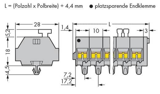 WAGO 261-253/332-000 Klemmenleiste 10 mm Zugfeder Belegung: L Grau 100 St.