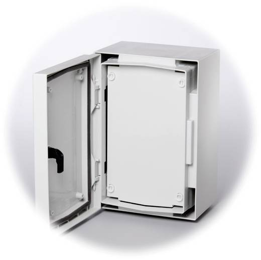 Frontplatte geschlossen (L x B) 479 mm x 362 mm Kunststoff Grau (RAL 7035) Fibox FP 5040-D 1 St.