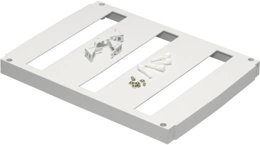 Frontplatte mit Durchführung (L x B) 579 mm x 362 mm Kunststoff Grau (RAL 7035) Fibox FP 6040-3x18 1 St.
