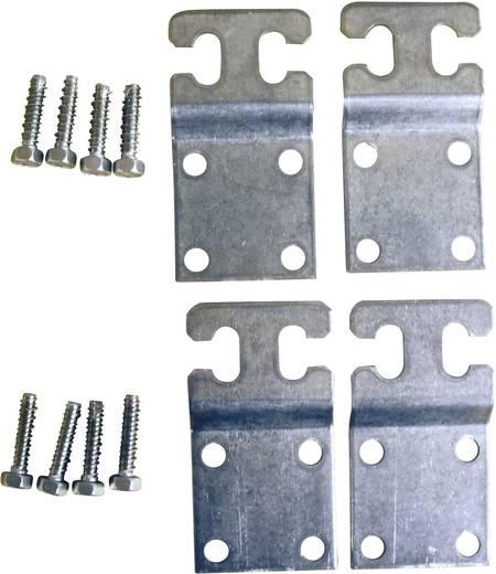 Wandhalterung Metall Grau (RAL 7035) Fibox MF CAB 1 Set