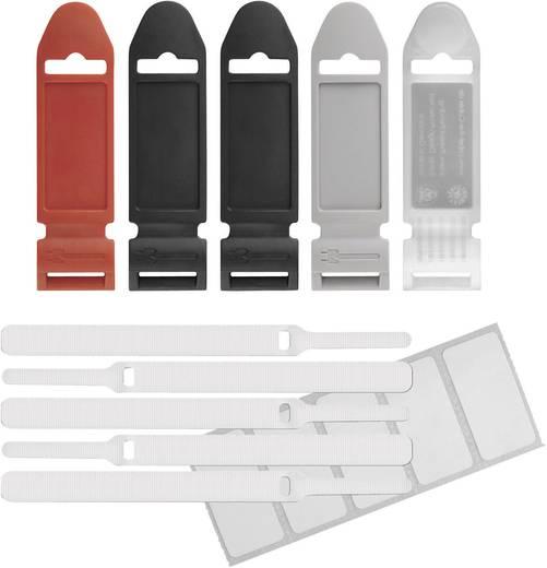 Klettkabelbinder zum Bündeln Haft- und Flauschteil (L x B) 170 mm x 13 mm Weiß Label the Cable 2420 5 St.