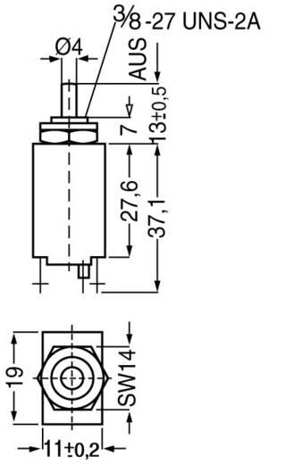 Schutzschalter thermisch 240 V/AC 2 A ETA CE106P30-40-2A 1 St.