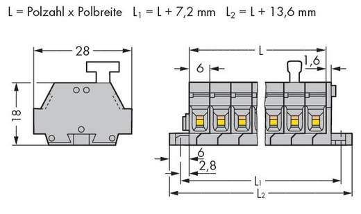 Klemmenleiste 6 mm Zugfeder Belegung: L Grau WAGO 261-428/331-000 50 St.