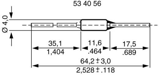 Temperatursicherung 117 °C 10 A 230 V/AC (Ø x L) 4 mm x 64.5 mm ESKA 770117 500 St.