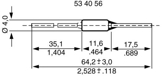 Temperatursicherung 167 °C 10 A 230 V/AC (Ø x L) 4 mm x 64.5 mm ESKA 770167 500 St.