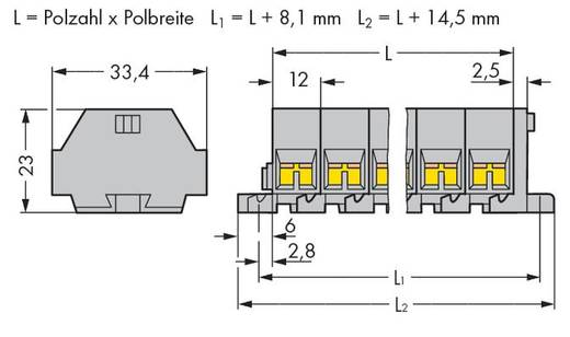 WAGO 262-207 Klemmenleiste 12 mm Zugfeder Belegung: L Grau 50 St.