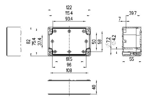 Installations-Gehäuse 122 x 82 x 55 ABS Licht-Grau (RAL 7035) Spelsberg TG ABS 1208-6-o 1 St.