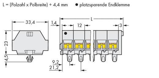 Klemmenleiste 12 mm Zugfeder Belegung: L Grau WAGO 262-292 25 St.