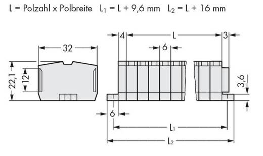 Klemmenleiste 6 mm Zugfeder Belegung: L Grau WAGO 264-140 50 St.