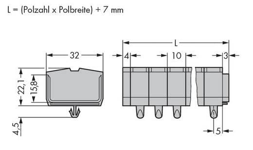 WAGO 264-253 Klemmenleiste 10 mm Zugfeder Belegung: L Grau 100 St.