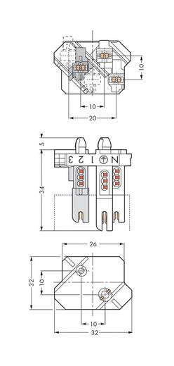 Verbindungsklemme starr: 1-0.5 mm² Polzahl: 4 WAGO 500 St. Weiß