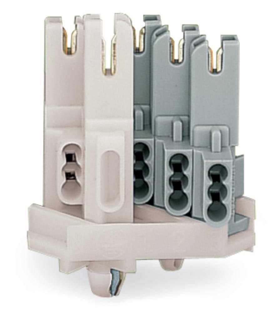 transparent weiß 10 Reihen a 12 Klemmen max 4 mm² Lüsterklemmen 120 Stück
