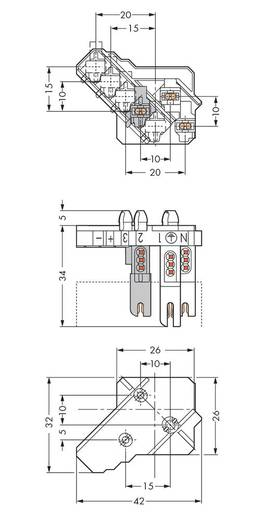 Verbindungsklemme starr: 0.5-1 mm² Polzahl: 3 WAGO 500 St. Weiß