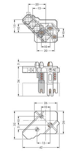 Verbindungsklemme starr: 0.5-1 mm² Polzahl: 5 WAGO 250 St. Weiß