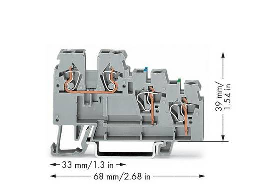 Aktorenklemme 5 mm Zugfeder Belegung: L Grau WAGO 270-572 50 St.