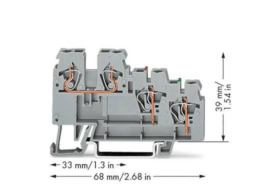 WAGO 270-585 Aktorenklemme 5 mm Zugfeder Belegung: L Grau 50 St.