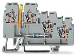 Borne pour actionneurs WAGO 270-585/281-507 5 mm ressort de traction Affectation des prises: L gris 50 pc(s)