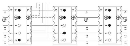 Verbindungsklemme starr: 0.5-1 mm² Polzahl: 3 WAGO 250 St. Weiß