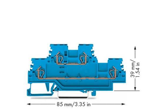 Doppelstock-Durchgangsklemme 4 mm Zugfeder Belegung: N, N Blau WAGO 279-504 50 St.