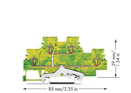 WAGO 279-507 Doppelstock-Schutzleiterklemme 4 mm Zugfeder Belegung: PE Grün-Gelb 50 St.