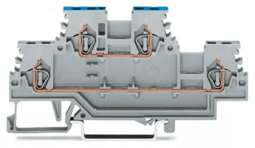 Doppelstock-Durchgangsklemme 4 mm Zugfeder Belegung: L, N Grau WAGO 279-513 50 St.