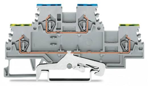 Doppelstock-Schutzleiterklemme 4 mm Zugfeder Belegung: PE, L Grau WAGO 279-527 50 St.