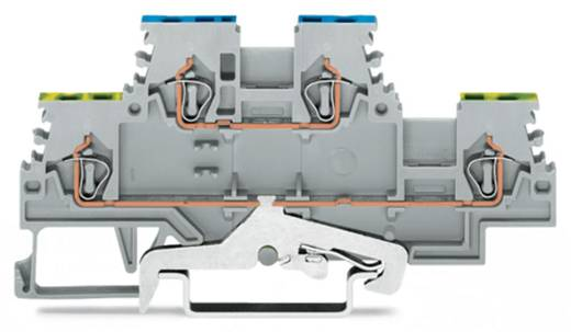 Doppelstock-Schutzleiterklemme 4 mm Zugfeder Belegung: PE, N Grau WAGO 279-517 50 St.