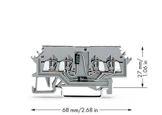 Diodenklemme 4 mm Zugfeder Belegung: L Grau WAGO 279-620/281-408 100 St.