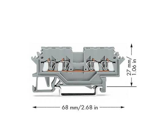 Durchgangsklemme 4 mm Zugfeder Belegung: L Grau WAGO 279-621 100 St.