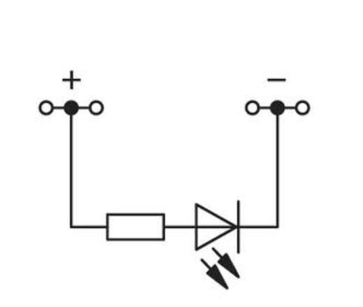 LED-Klemme 4 mm Zugfeder Belegung: L Grau WAGO 279-624/281-434 100 St.