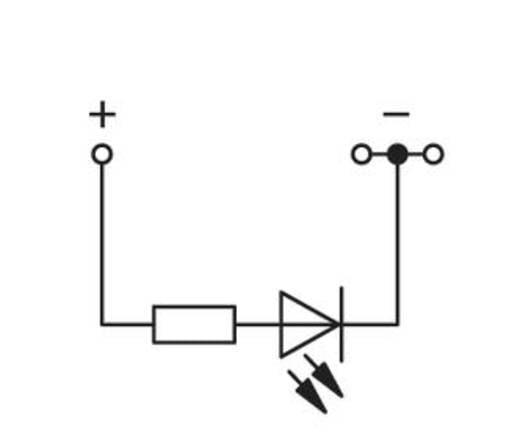 LED-Klemme 4 mm Zugfeder Belegung: L Grau WAGO 279-674/281-434 100 St.