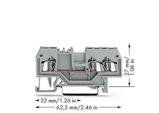 Durchgangsklemme 4 mm Zugfeder Belegung: L Grau WAGO 279-681 100 St.