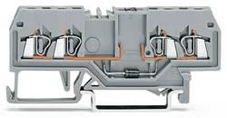 Borne à diode WAGO 279-815/281-410 4 mm ressort de traction Affectation des prises: L gris 100 pc(s)