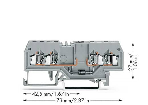 Diodenklemme 4 mm Zugfeder Belegung: L Grau WAGO 279-815/281-411 100 St.