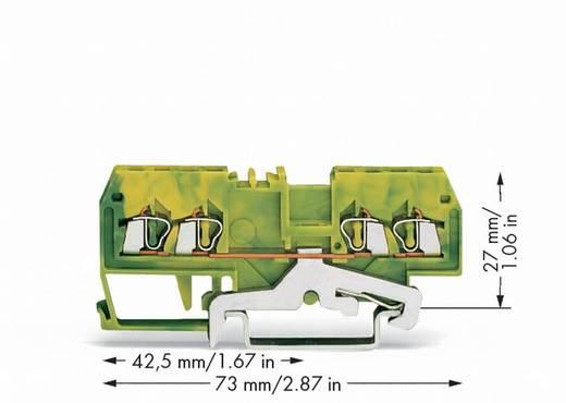 Schutzleiterklemme 4 mm Zugfeder Belegung: PE Grün-Gelb WAGO 279-837 100 St.