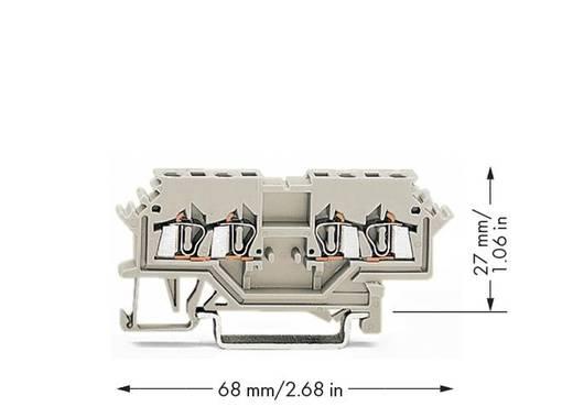 Durchgangsklemme 4 mm Zugfeder Belegung: L Grau WAGO 279-989 100 St.