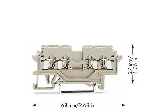 WAGO 279-990 Durchgangsklemme 4 mm Zugfeder Belegung: L Grau 100 St.